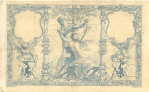 Verso 100 Francs type 1882
