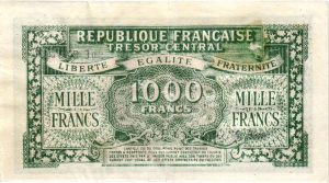 Verso 1000 Francs Marianne FAUX