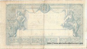 "Verso 1000 Francs Type 1862 ""Indices noirs"""