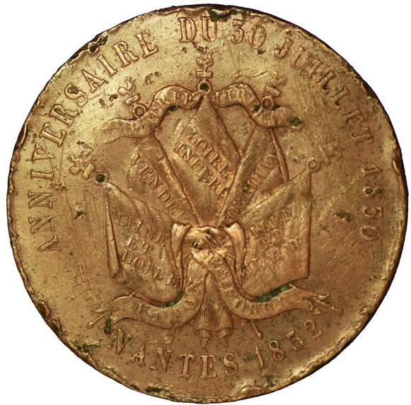 Verso 5 Francs Louis-Philippe I ESSAI module 1832