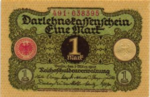 billet de collection d'Allemagne
