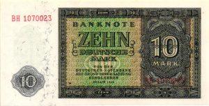 billet de collection d'Allemagne de l'Est