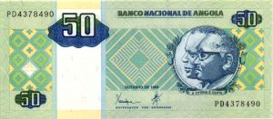 billet de collection d'Angola