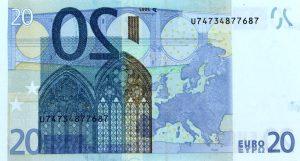 billet fauté 20 euro