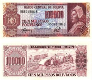 Billet de collection Bolivie