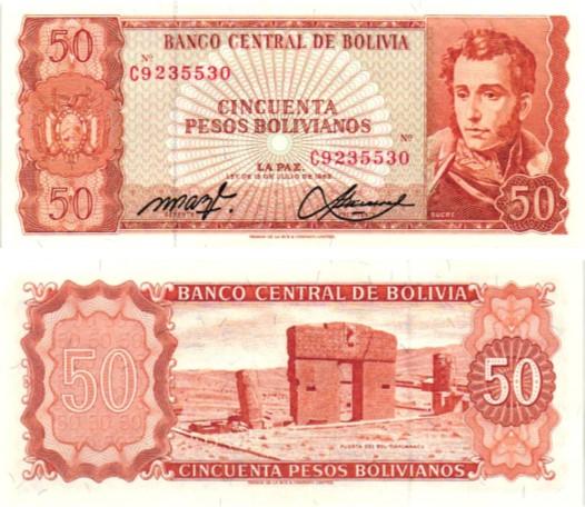 Billet de collection Bolivie