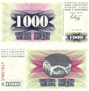 Billet de collection Bosnie-Herzégovine