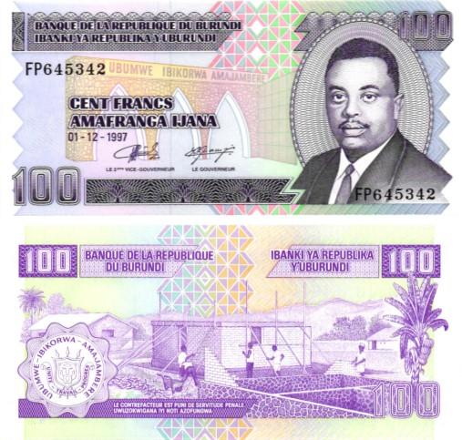 Billet de collection Burundi