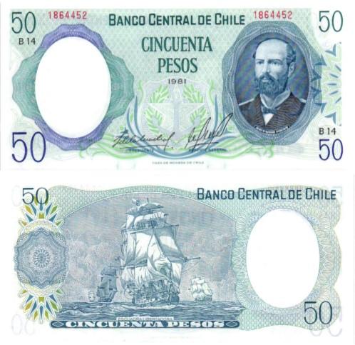 Billet de collection Chili