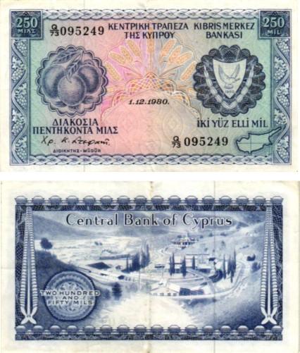 Billet du collection Chypre