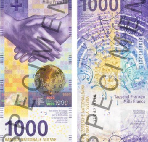Billet 1000 Francs Suisse