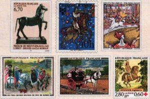Type de timbres - L'Art