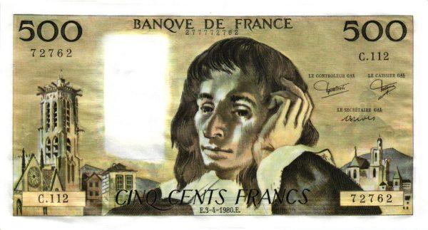 500 Francs Blaise Pascal