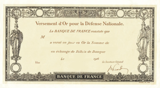 Billet Banque de France type Germinal