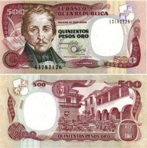 Billet de collection Colombie
