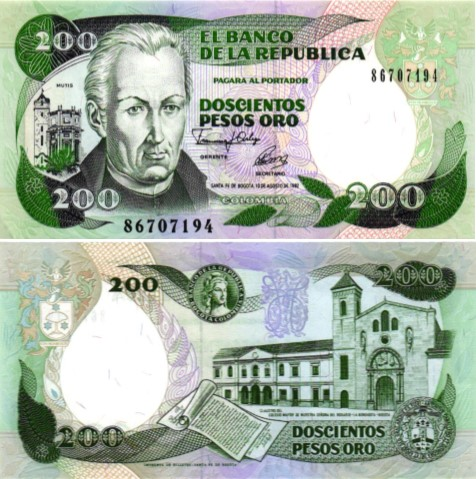 Billet de collection Colombie