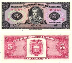 Billet de collection Equateur