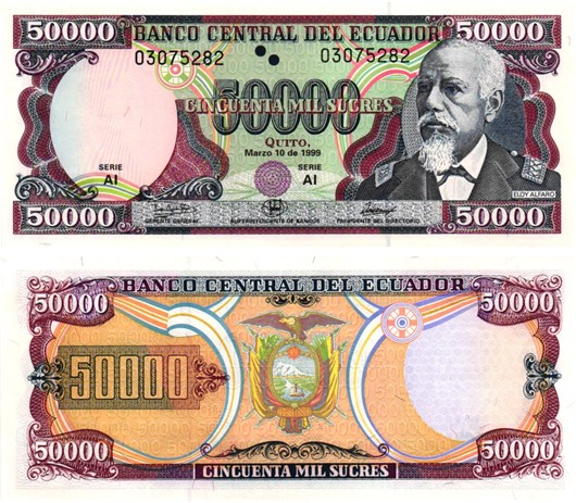 Billet de collection Equateur