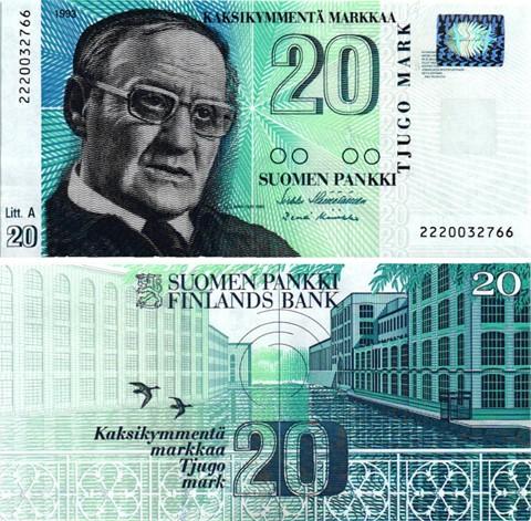 Billet de collection Finlande
