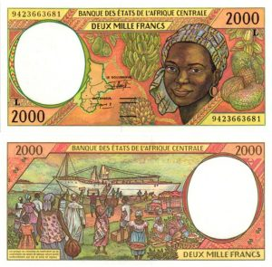 Billet de collection Gabon