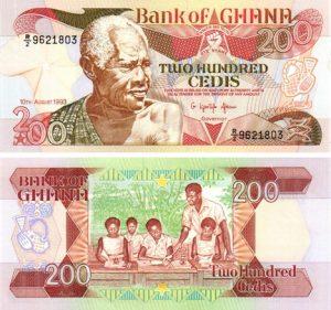 Billet de collection Ghana