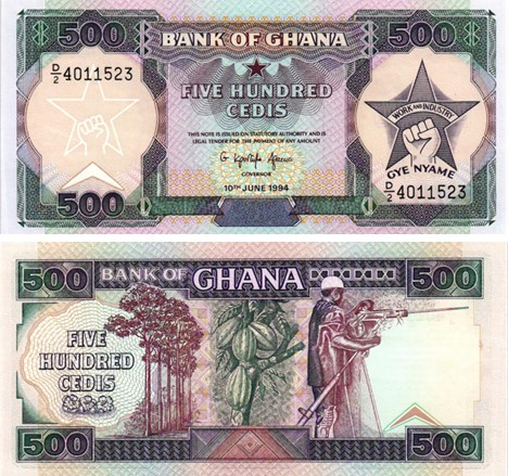 Billet de collection Ghana
