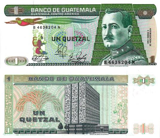 Billet de collection Guatemala