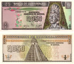 Billet de collection Guatemala