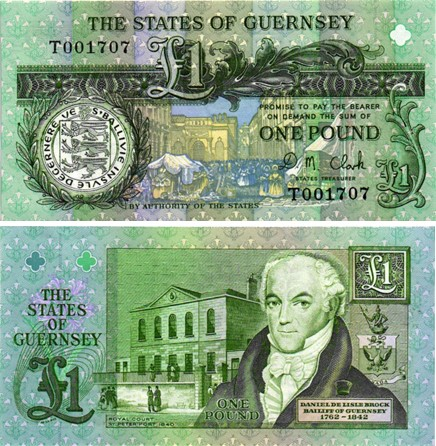 Billet de collection Guernesey