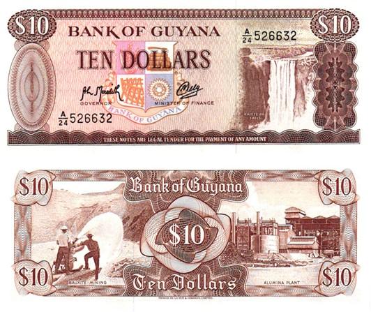 Billet de collection Guyana
