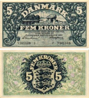 Billet de collection Danemark