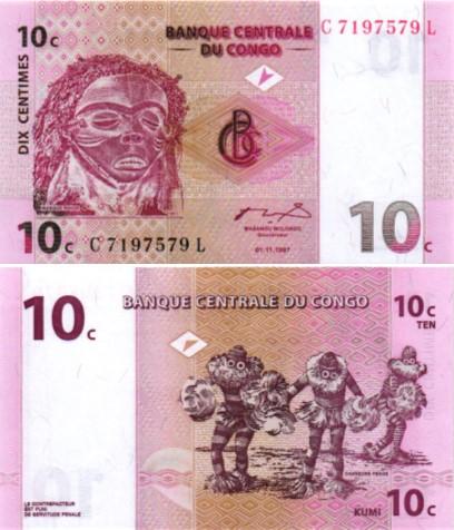 Billet de collection congo