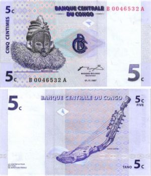 Billet de collection congo