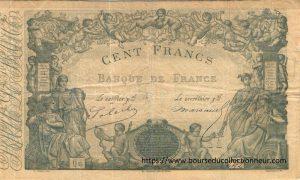 100 Francs type 1862 indices bleus