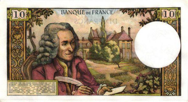 Billet 10 Francs Voltaire