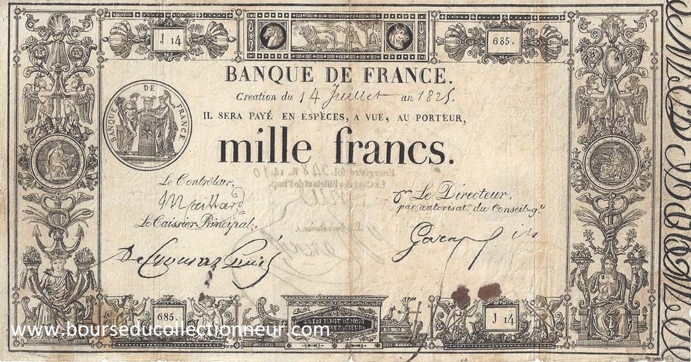 1000 Francs Type 1817 Définitif