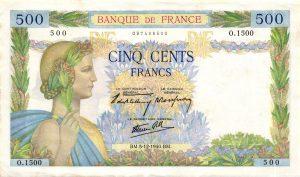 500 Francs La Paix