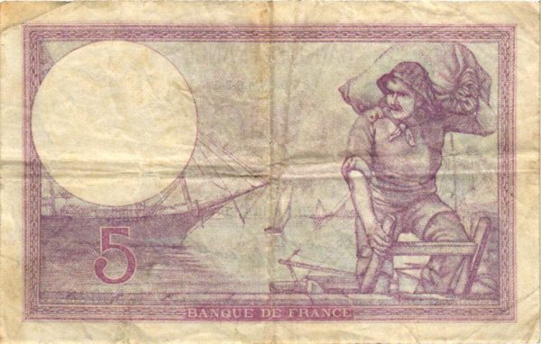 Billet BDF 5 Francs Violet