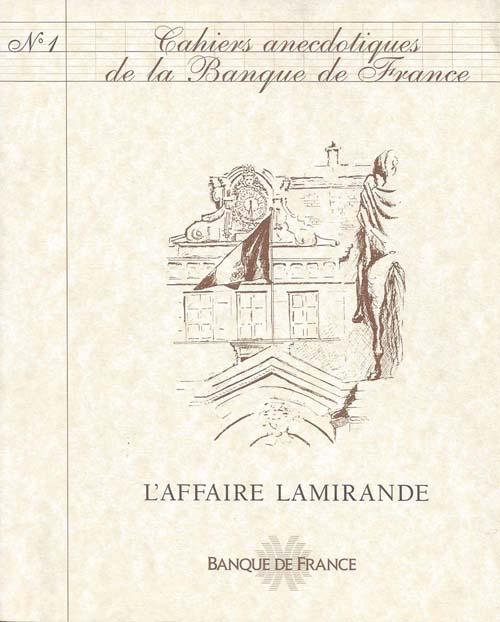Cahiers anecdotiques de la Banque de France