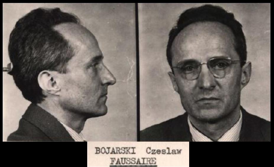 Czeslaw BOJARSKI Faussaire de billets