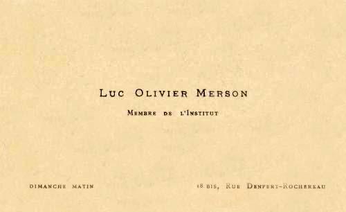 Luc-Olivier MERSON, peintre billet de banque