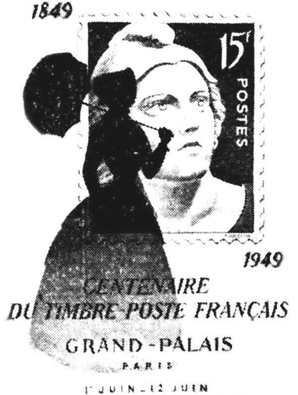 En 1949, le timbre français a 100 ans