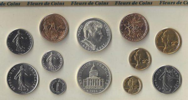 Série Monnaie de Paris 1984