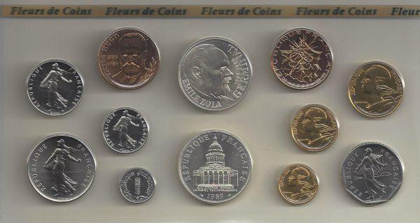 Série Monnaie de Paris 1985