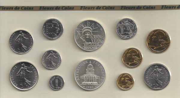 Série Monnaie de Paris 1986
