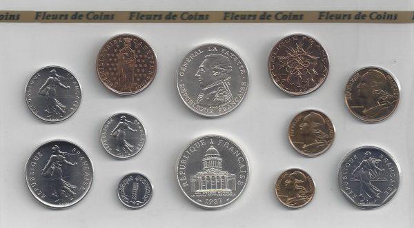 Série Monnaie de Paris 1987