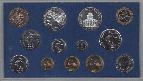 Série Monnaie de Paris 1988