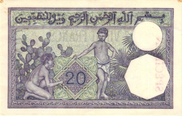 TUNISIE - Billet de 20 Francs Type 1912 Algérie