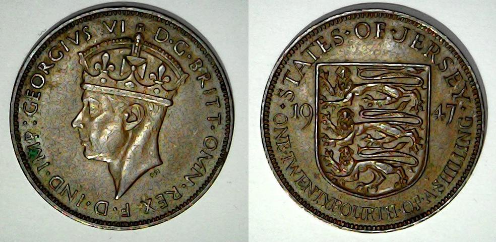 1/24 shilling 1947 Jersey