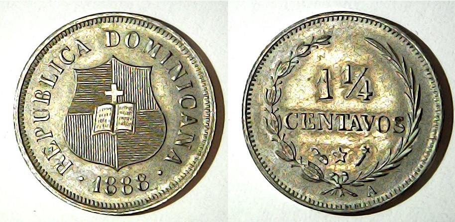 1,25 centavo 1888